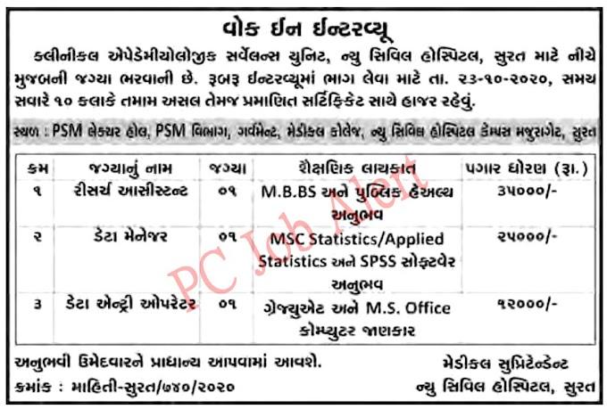 New Civil Hospital Surat Recruitment 2020
