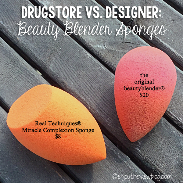 two different brands of beauty blender sponges