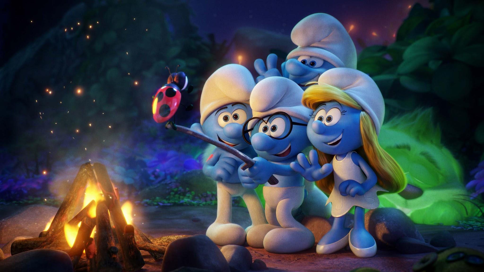 papel de parede os smurfs