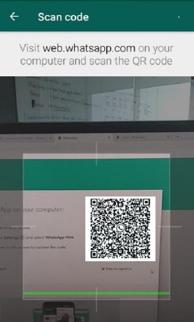 Scan Barcode WA Web Lewat HP