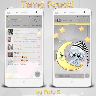 Moon & Elephant Sleep Theme For YOWhatsApp & Fouad WhatsApp By Patricia