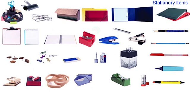 stationery items names, stationery names,