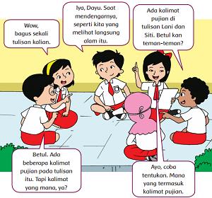 Lani dan Siti membacakan tulisan didepan teman teman www.jokowidodo-marufamin.com