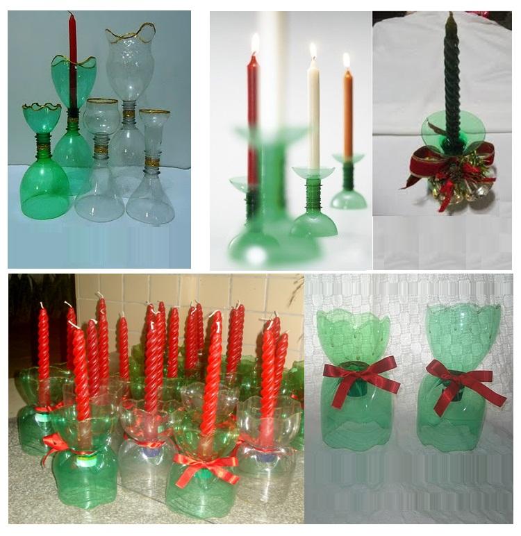 Enfeite De Vela ~ PARA u00cdSO DO EDUCANDO Enfeite de Natal Vela Recicl