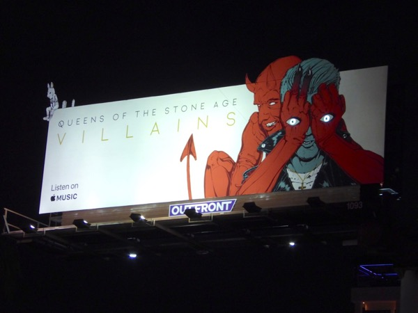 Queens Stone Age Villains devil eyes billboard night