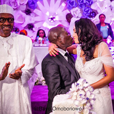 His excellency, Governor Adams Oshiomhole and Lara celebrate their first year Marriage Anniversary