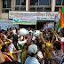 इंदौर में पानी को लेकर प्रदर्शन, नगर निगम कार्यालय में फोड़े मटके