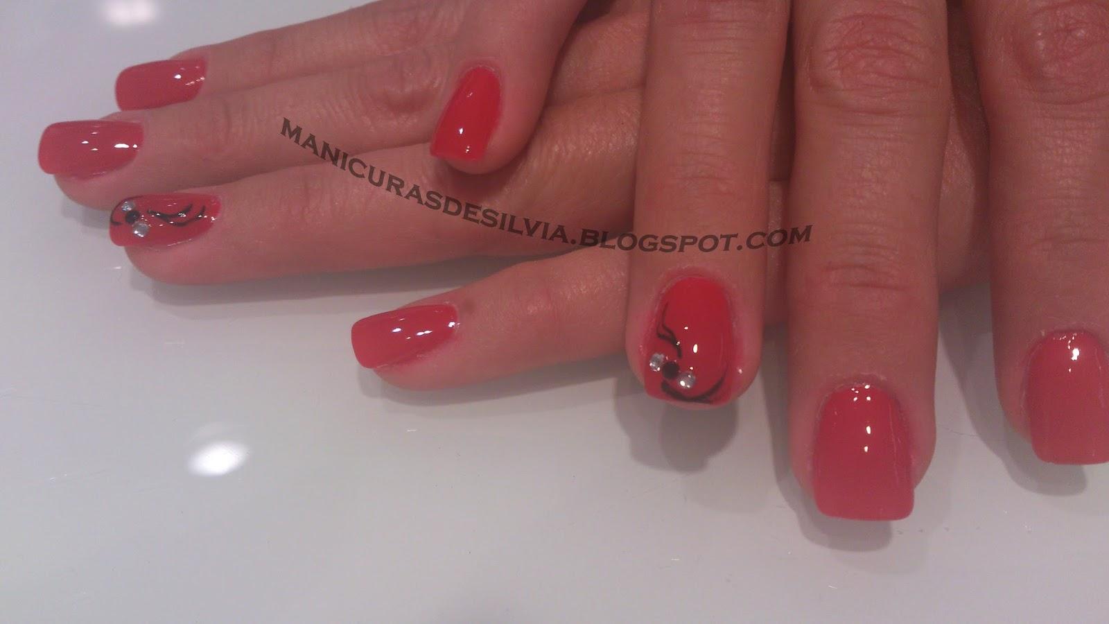 Manicuras De Silvia Manicura Roja Elegante Elegant Red Nails - Manicuras-elegantes