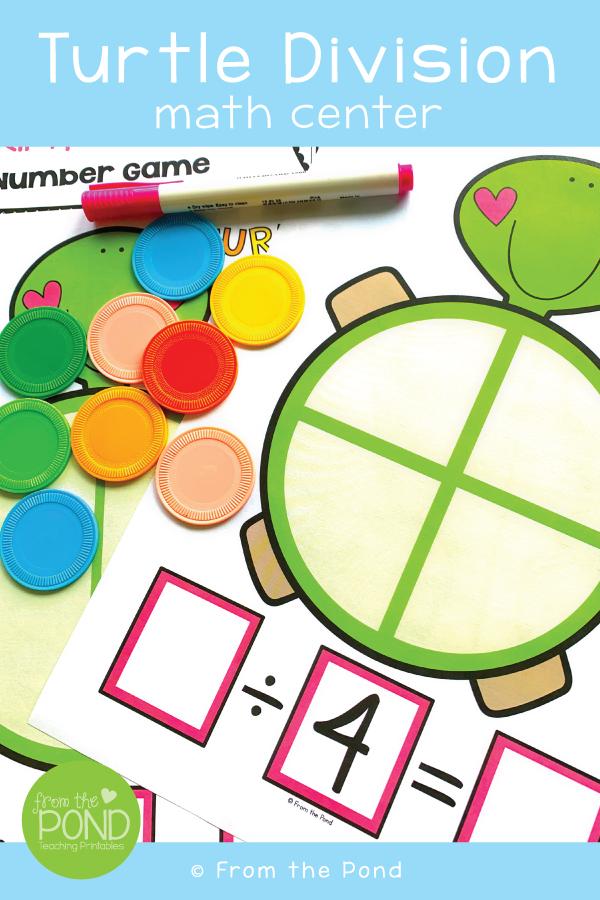 Dividing by 4 Math Center