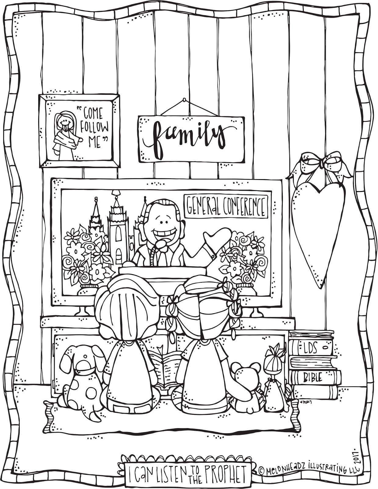 melonheadz lds illustrating lds general conference coloring page