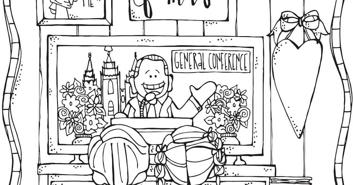 Melonheadz Lds Illustrating Lds General Conference Coloring