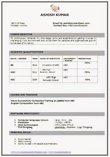 declaration in resume for freshers