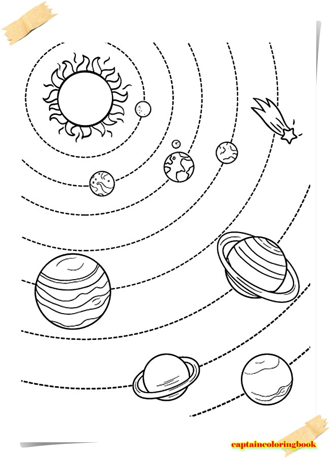 Attractive Nine Planets Coloring Pages Motif - Framing Coloring ...