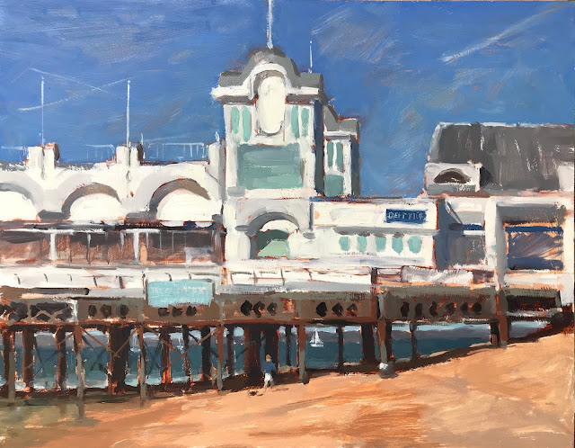 #363 'Early Morning, South Parade Pier' 11×14″