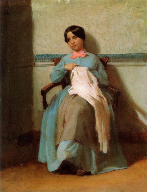 Адольф Вильям Бугро - Портрет Леони Бугро (1850)