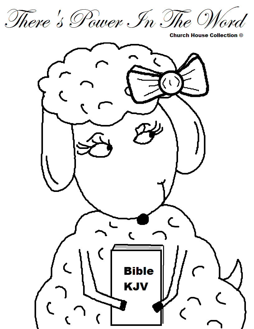 Church House Collection Blog There S Power In The Word Sheep Coloring Page For Sunday School Kids