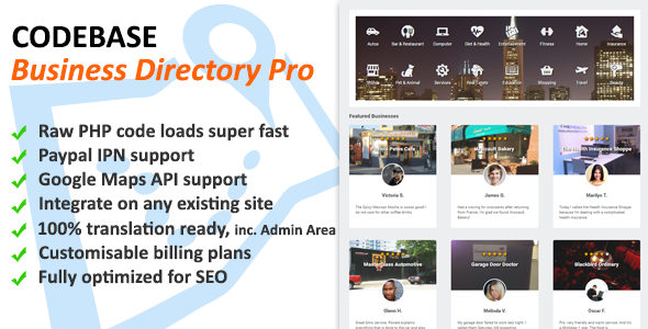 CodeCanyon - Codebase Business Directory v1.02 - PHP Script