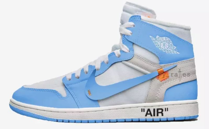 d538c731fb85c2 Here is a look via py rates at the Off-White x Air Jordan 1 Retro High  UNC   Sneaker that should be hitting retailers in May according to him. Stay tuned  ...