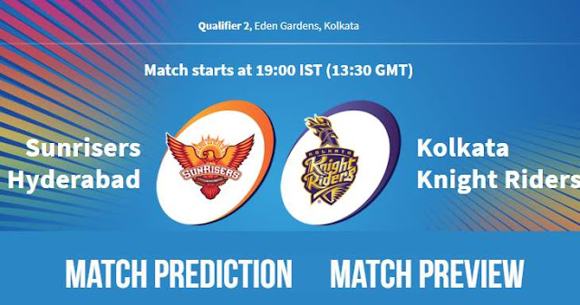 IPL 2018 Qualifier 2 SRH vs KKR Match Prediction, Preview and Head to Head: Who Will Win?