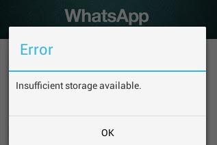 Solusi Tidak Dapat Menginstall WhatsApp Karena Memori Penuh