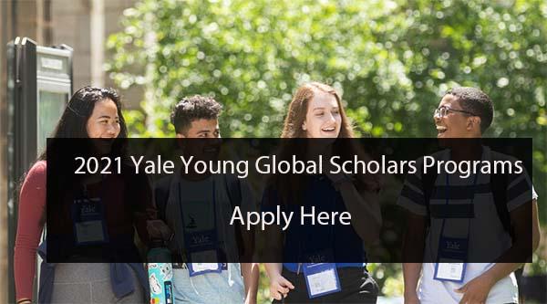 Yale Young Global Scholars 2021 pour les étudiants du secondaire (bourses disponibles)