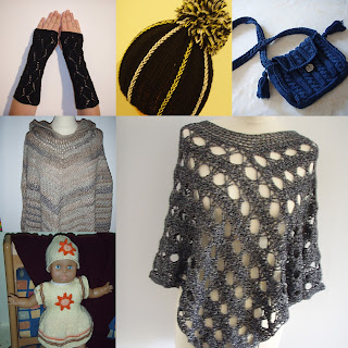TinklkniT häkeln stricken Stulpen Mützen Taschen Ponchos Puppenkleid