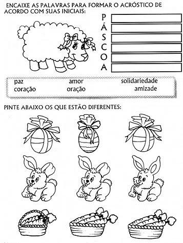 Páscoa 80 Desenhos E Atividades Exercícios Máscaras Lembranças