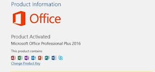 aktivasi Microsoft Office 2019 Professional Plus termudah - bukti aktivasi