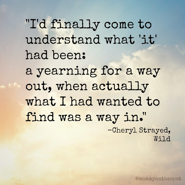 Erin Janda Rawlings Mommy on the Spot What I'm Reading Wild by Cheryl Strayed
