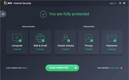 avg internet security full -