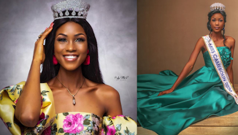 Audrey Monkam es Miss World Cameroon 2020