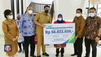 Wali Kota Medan Serahkan Klaim Santunan JKM dan JHT Kepada Ahli Waris Dari BPJS Ketenagakerjaan