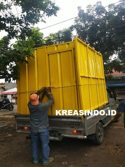 Booth semi Kontainer pesanan PD Dharma Jaya Cakung