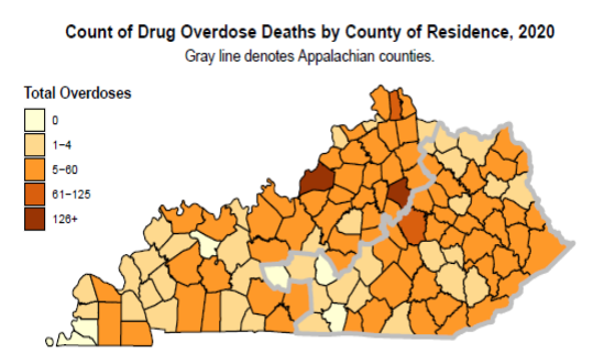 Drug overdose deaths in Kentucky increased 49% in 2020;  fentanyl and methamphetamine remained the leading killers