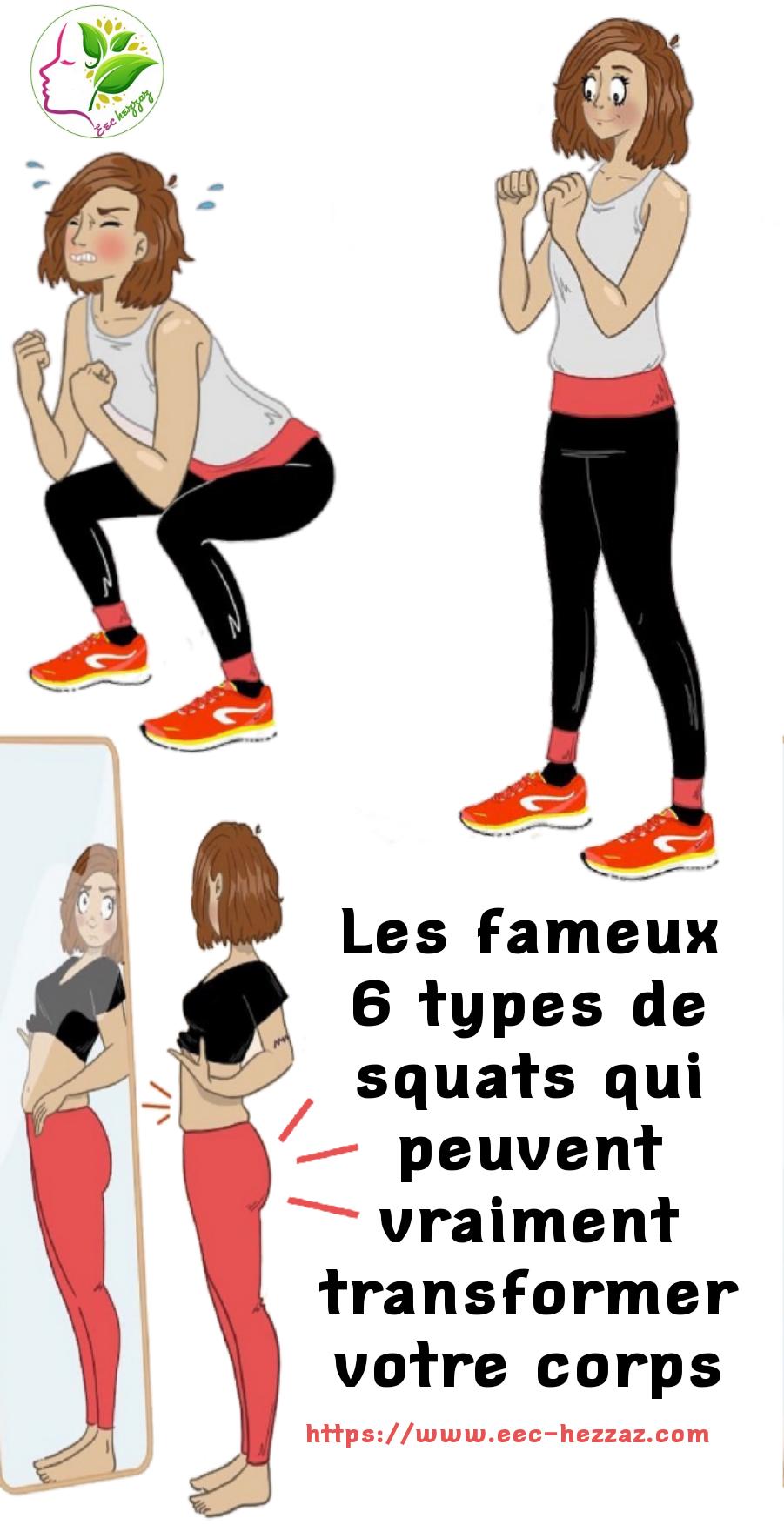 Les fameux 6 types de squats qui peuvent vraiment transformer votre corps