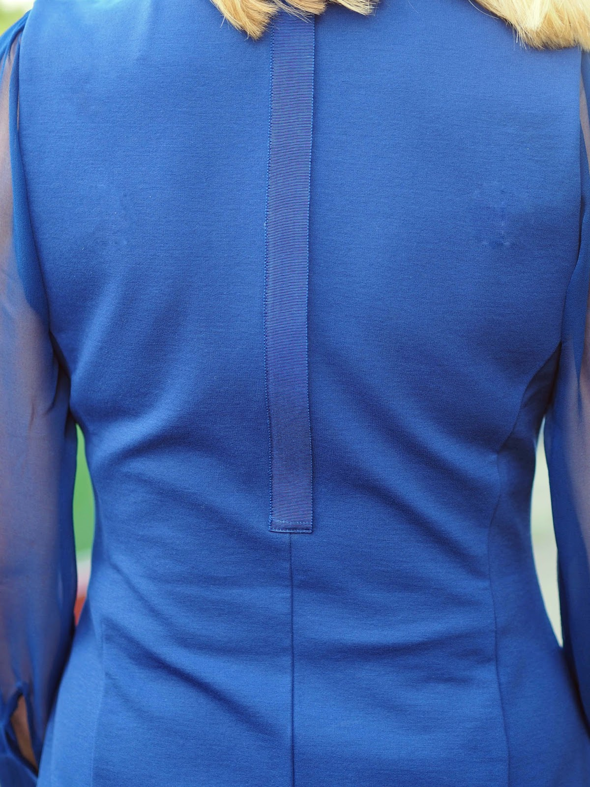Winser London miracle fitted dress moonlight blue, over 40 style