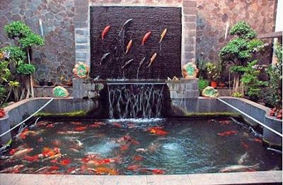 Contoh Desain Kolam Ikan Minimalis Modern
