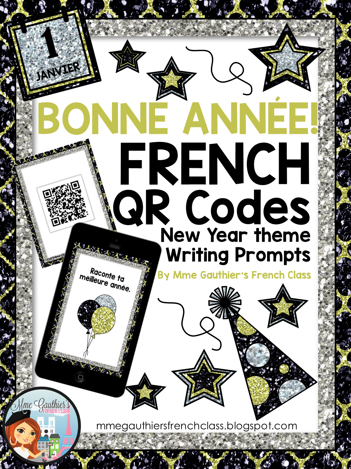 Mme Gauthier S French Class French New Year Qr Codes Writing Prompts