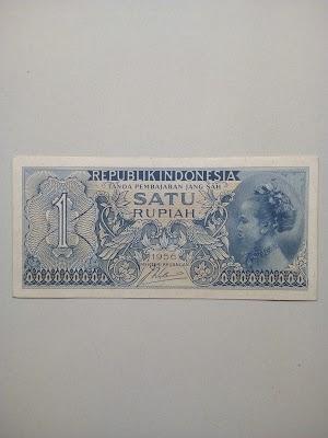 1 rupiah tahun 1956