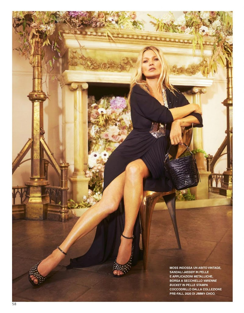 Kate Moss Featured in Grazia Magazine - Italy June 2020