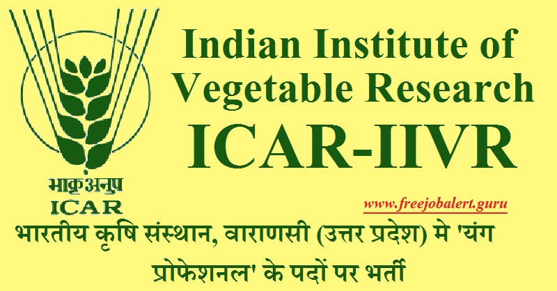 ICAR-IIVR Recruitment 2018