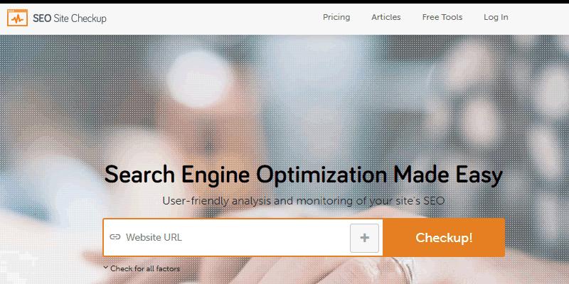 SEOSiteCheckup is a powerful SEO audit tool