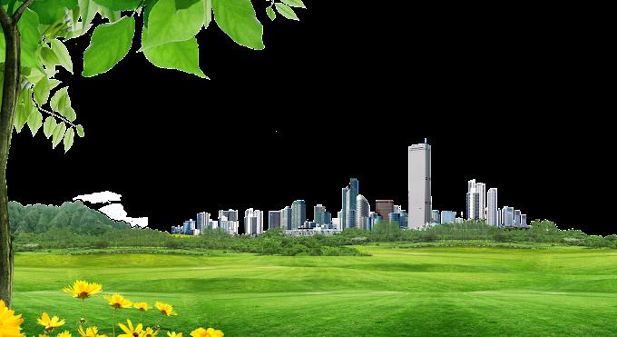 campo de césped animado al lado de edificios, edificio de arquitectura, material de fondo de construcción de ciudad, edificio, paisaje png by: pngkh.com