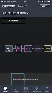 Pocket GT のエフェクトは BOSS Tone アプリから設定可能