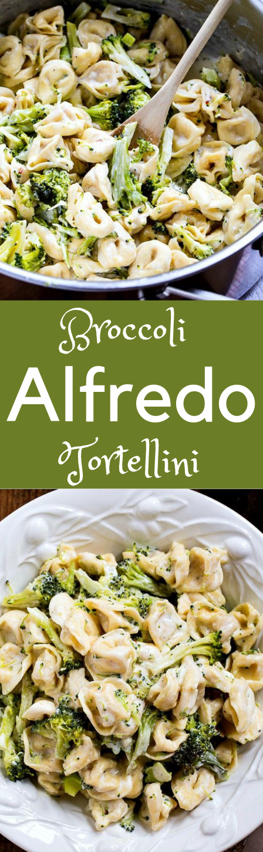 Broccoli Alfredo Tortellini #broccoli #vegan