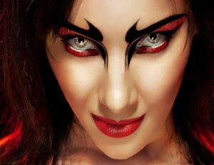 Halloween Devil Eye Make Up 2016