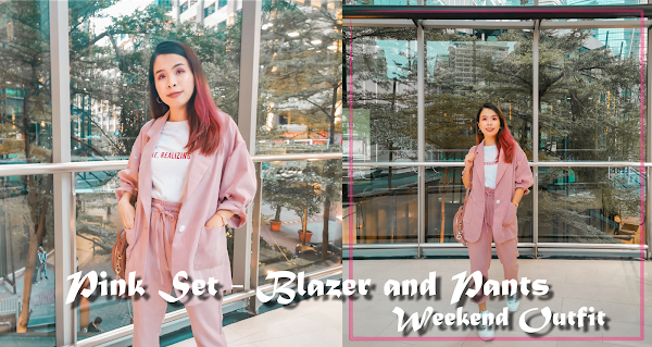 Pink Blazer and Pants set | Weekend Outfit #SharonOOTD