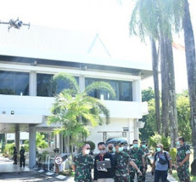 Pemprov Sulawesi selatan Pakai Drone Pendeteksi Suhu Tubuh Untuk Patroli