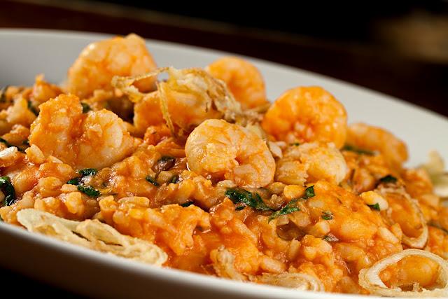 Receita Almoço de páscoa risoto de camarão
