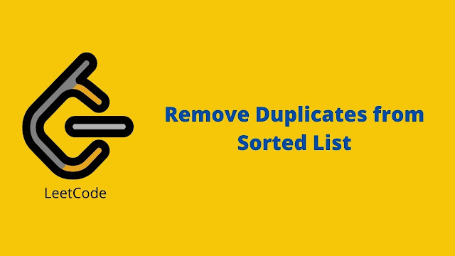 Leetcode Remove Duplicates from Sorted List problem solution